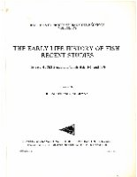 The early life history of fish. Raport et proces-verbaux des reunions. 178