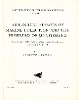 Biological Effects of marine pollution and the problems of monitoring. Raport et proces-verbaux des reunions. 179
