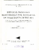Physical processes responsible for dispersal of pollutants in the sea. Raport et proces-verbaux des reunions. 167